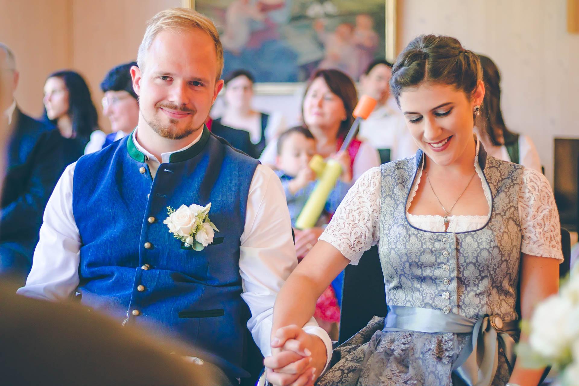 Hochzeitsfotos im Standesamt in Anzing