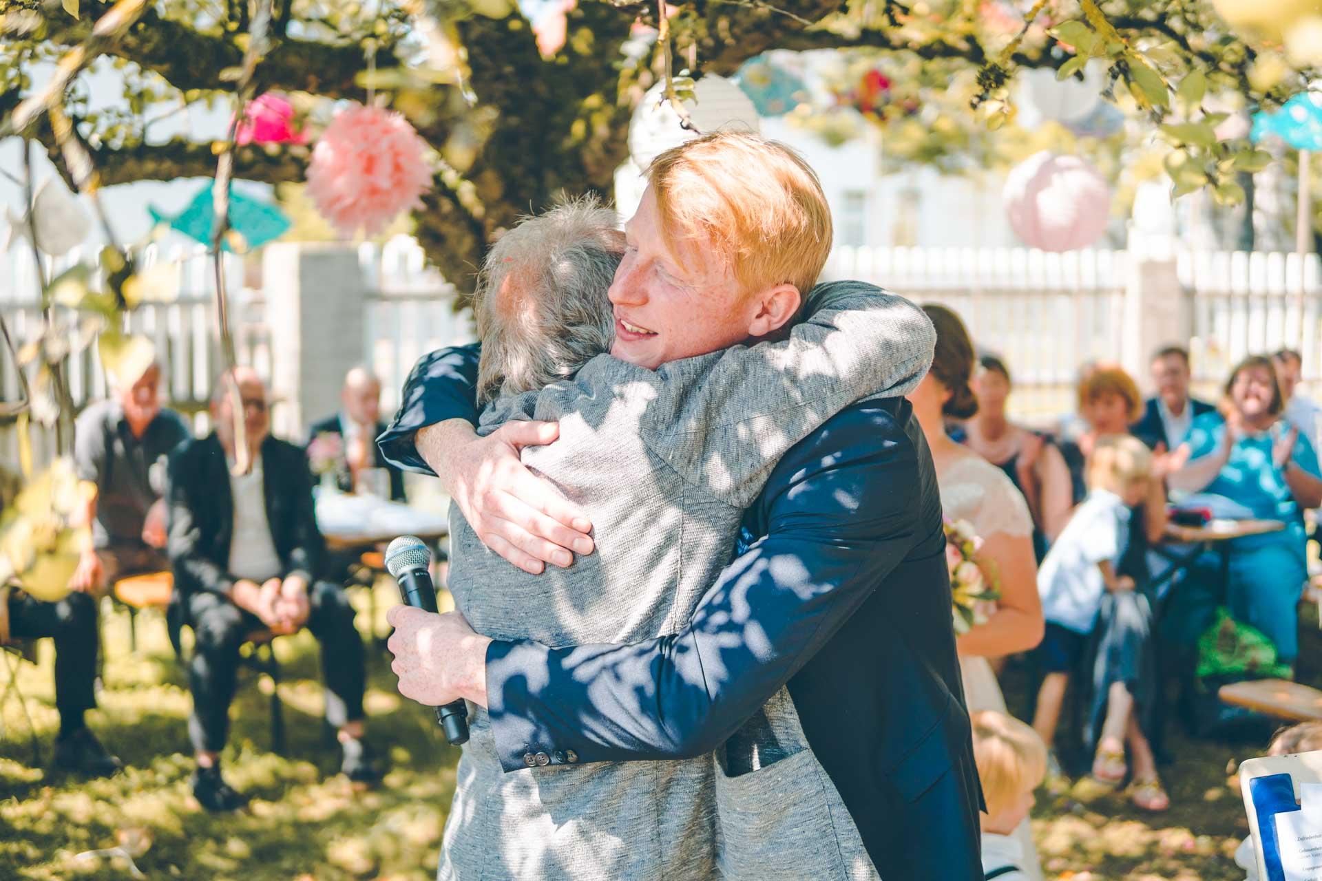 Der Bräutigam und sein Vater