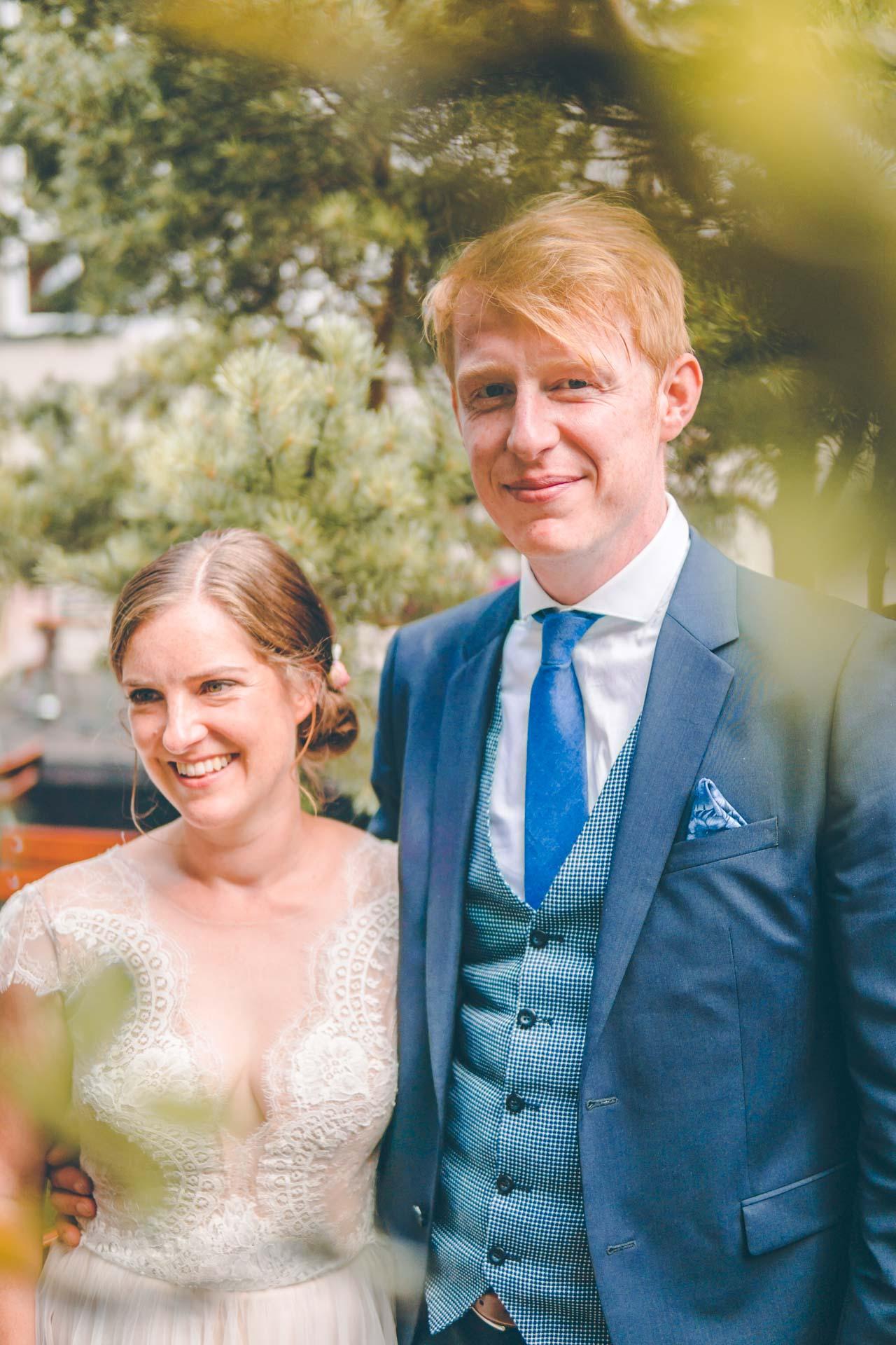 Porträtbild des Brautpaars