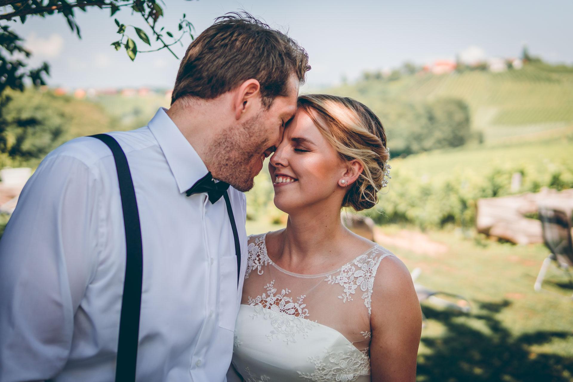 Unser Lieblings Hochzeitsbild auf einem slowenischen Weinberg