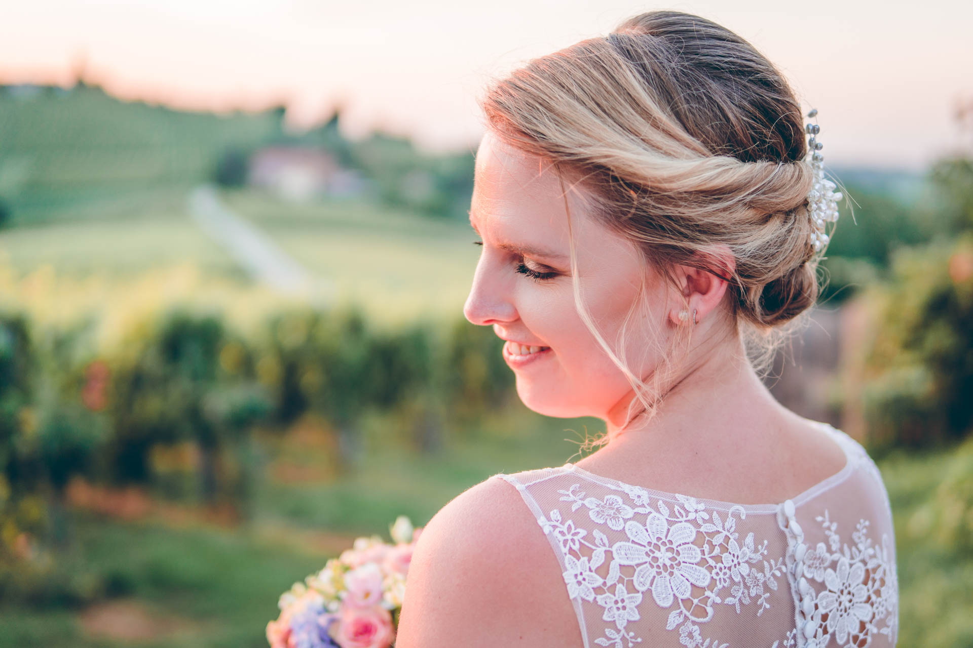 Braut im Boho-Stil