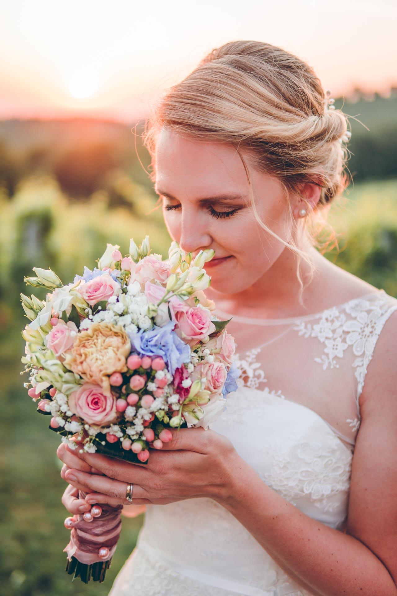 Boho Hochzeitsbild einer Braut