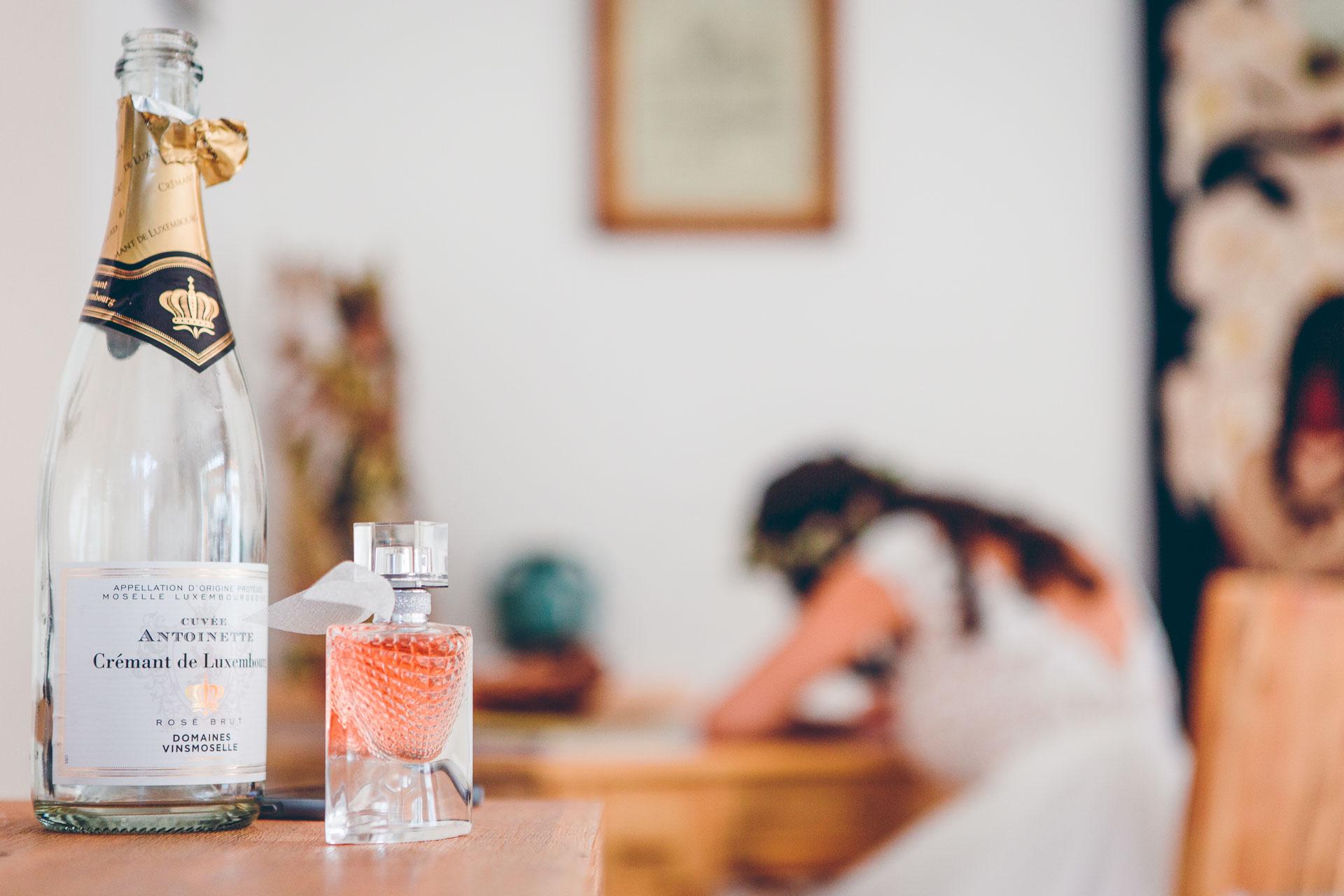 Sekt bei den Hochzeitsvorbereitung