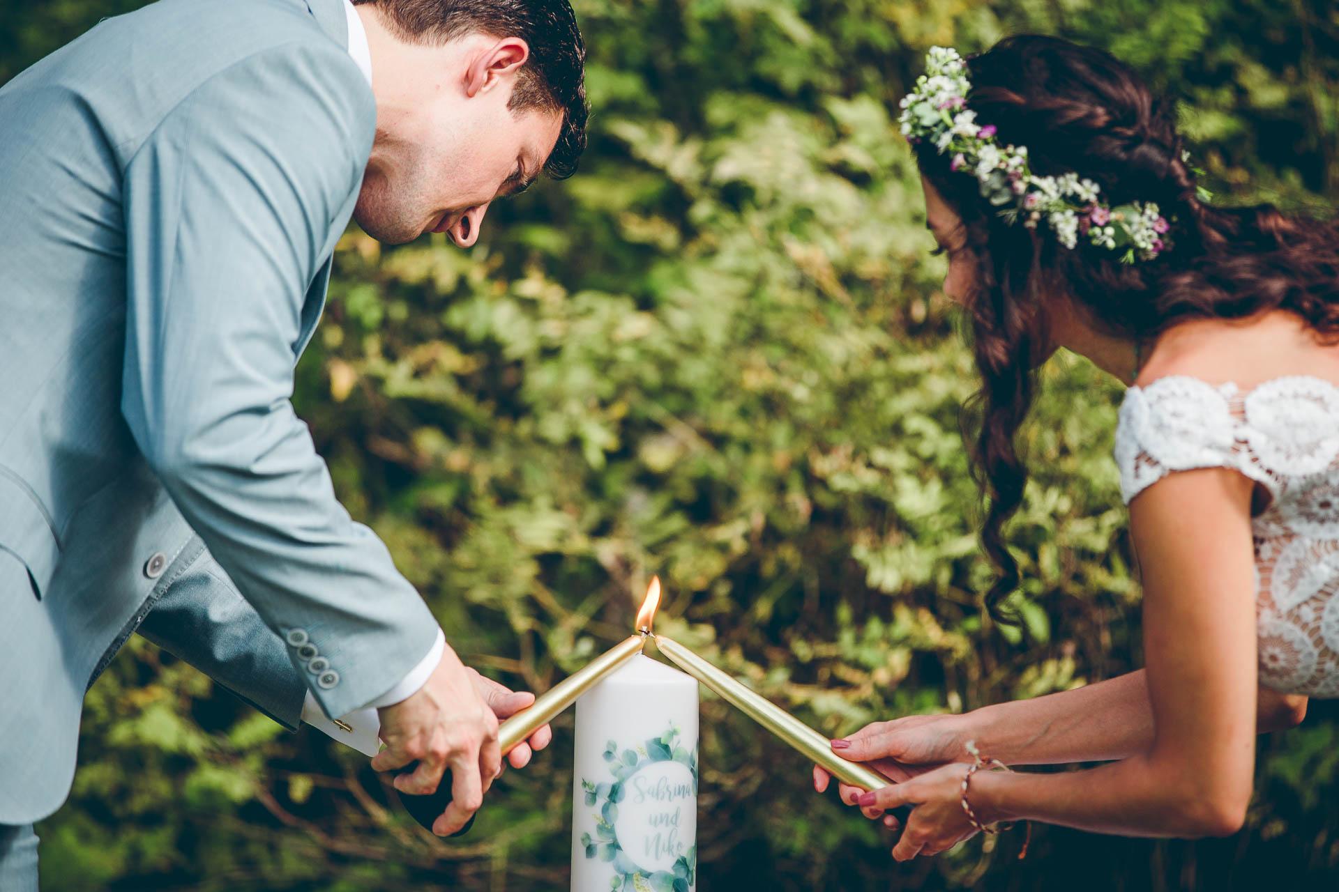 Hochzeitspaar auf Vintage Hochzeit