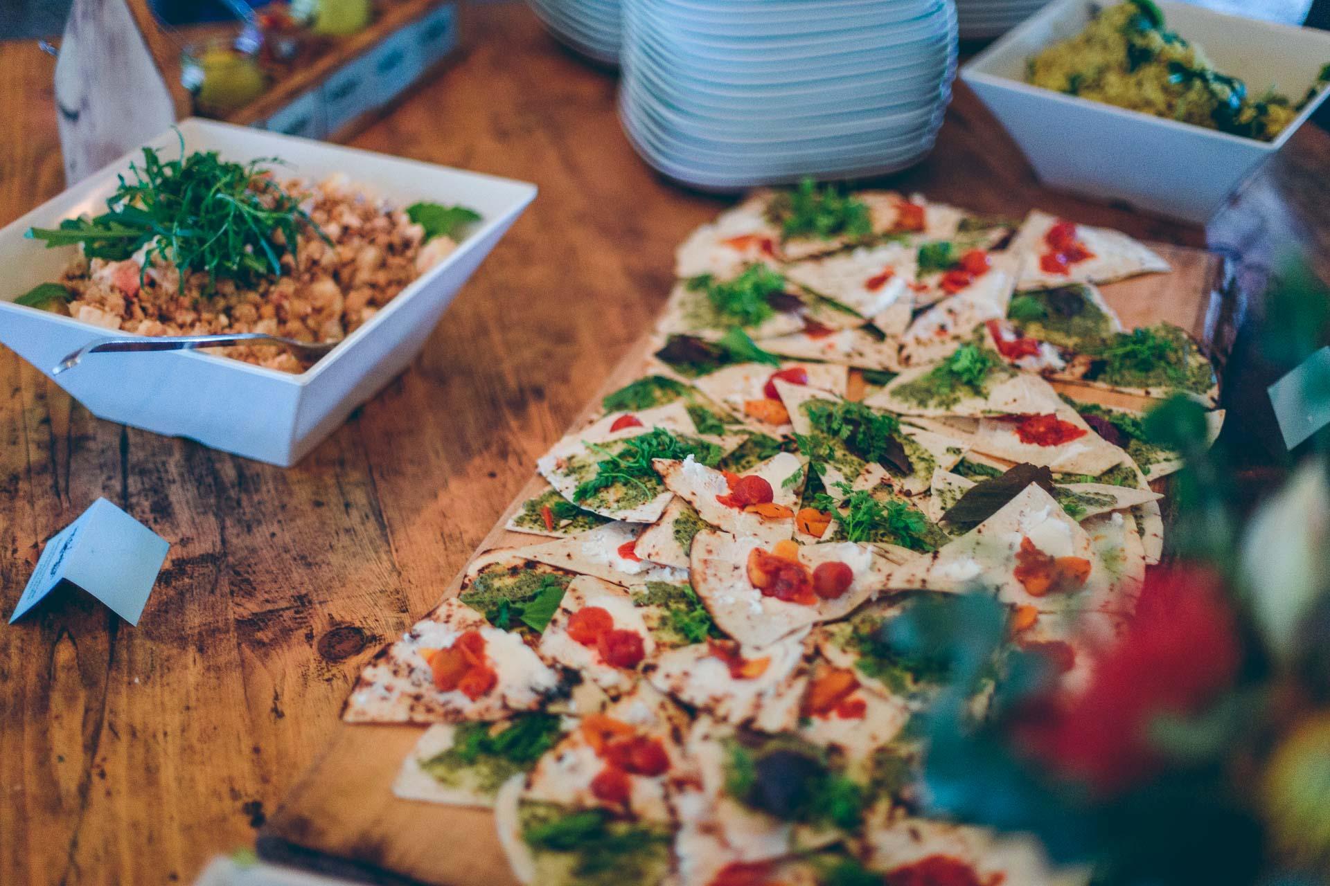 Essen Catering für Hochzeit im bayrischen Blueland