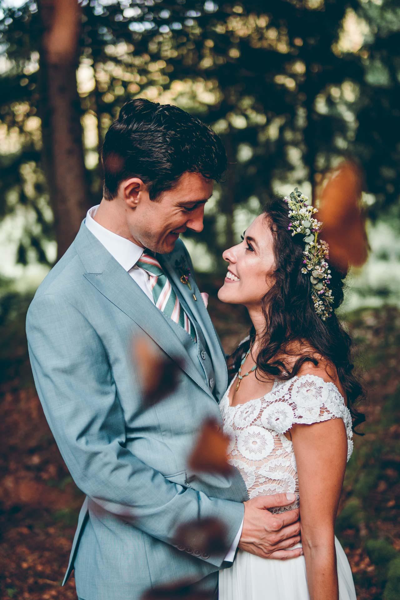 Hochzeit im Wald in Bayern
