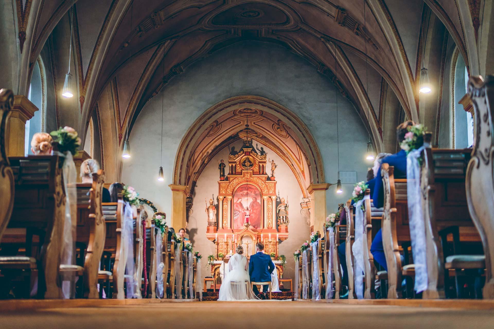 Hochzeit in München in der Kirche