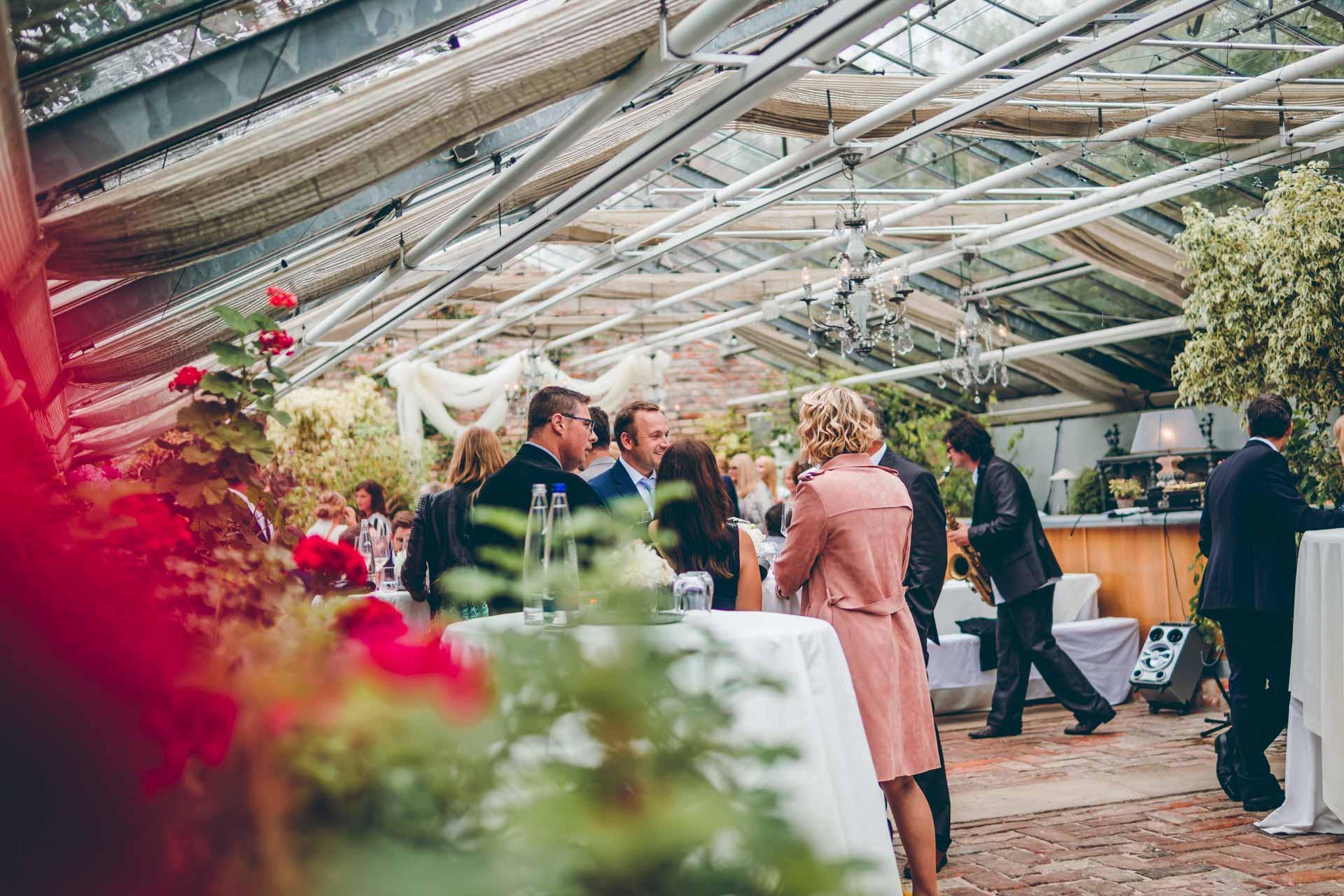 Hochzeitsfeier in der alten Gärtnerei München